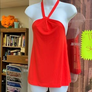 Ann Taylor Tops - Ann Taylor crepe halter top radiant red